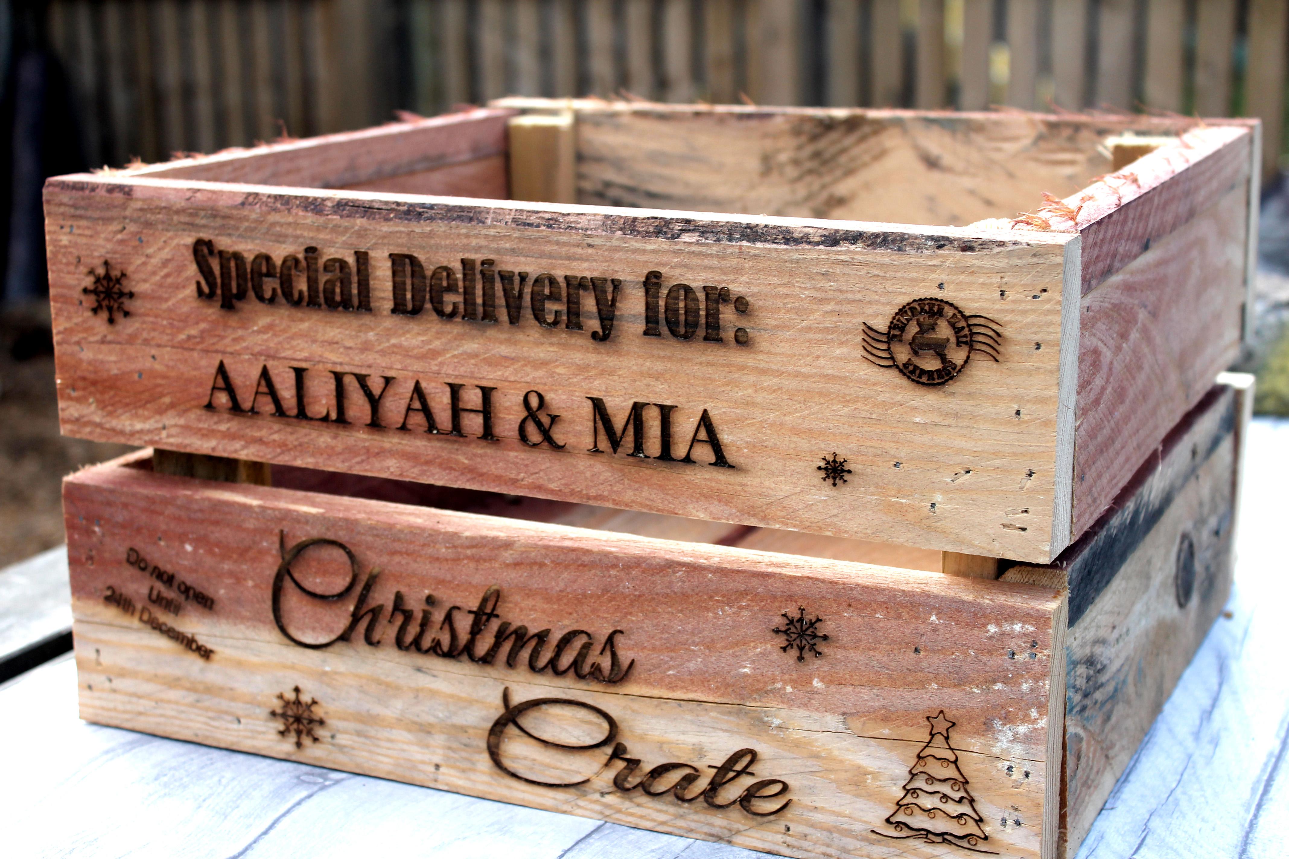 Christmas Eve Crate.Personalised Christmas Eve Crate Santa Christmas Box