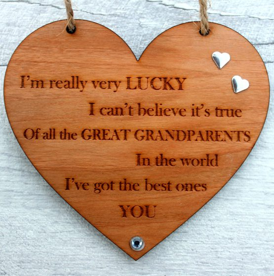 wooden keepsake for grandparents