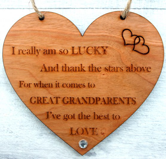grandparents gift heart