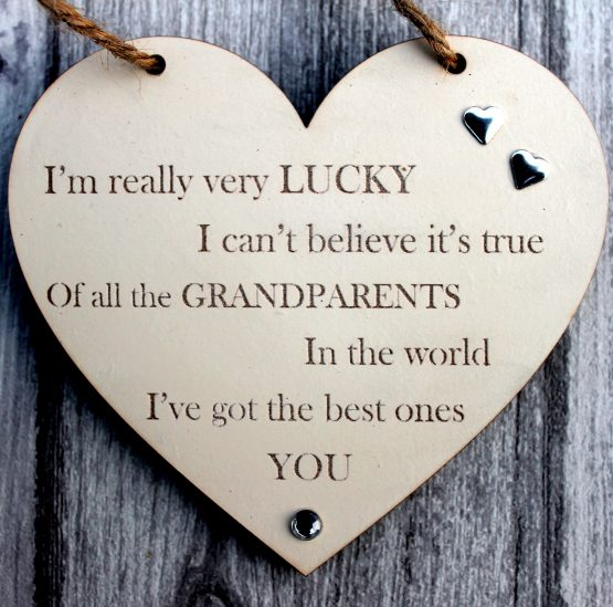 grandparents gift sign Heart