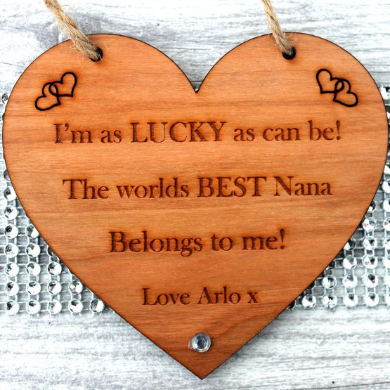 Personalised Grandparents Gift Heart