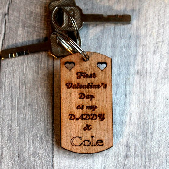 Personalised 1st valentine's day as my daddy keyring