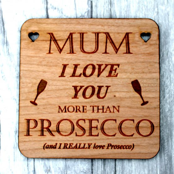 I love prosecco coaster