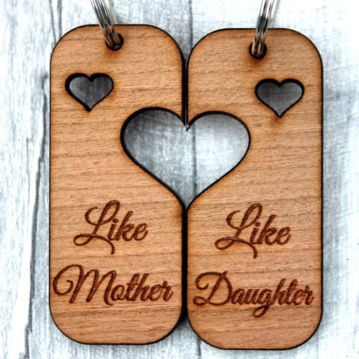 mother like daughter keyring