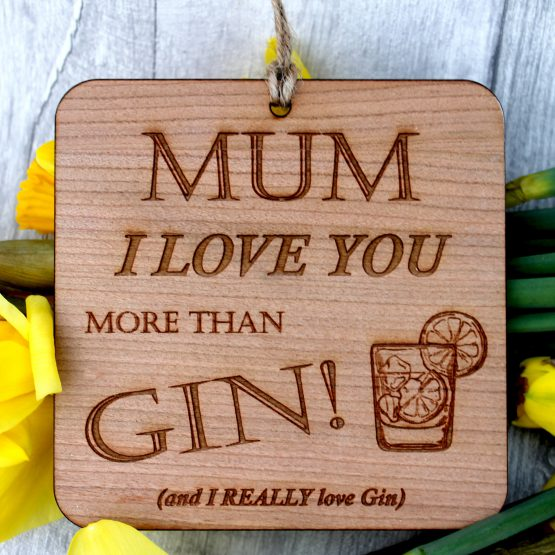i love gin sign