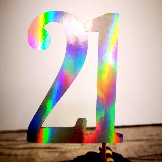 21 Cake Topper