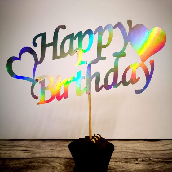 Heart Birthday Cake Topper