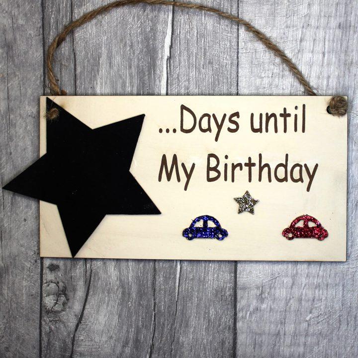 birthday countdown plaque