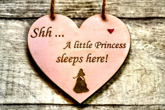 Princess sleeps here heart