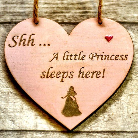Princess sleeps here heart