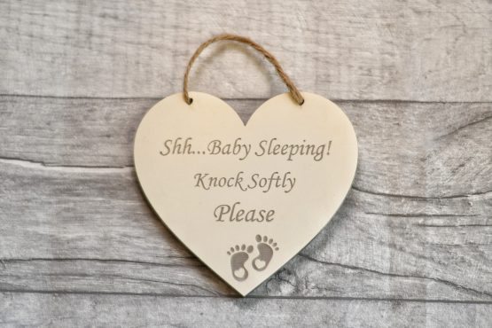 shh baby sleeping heart