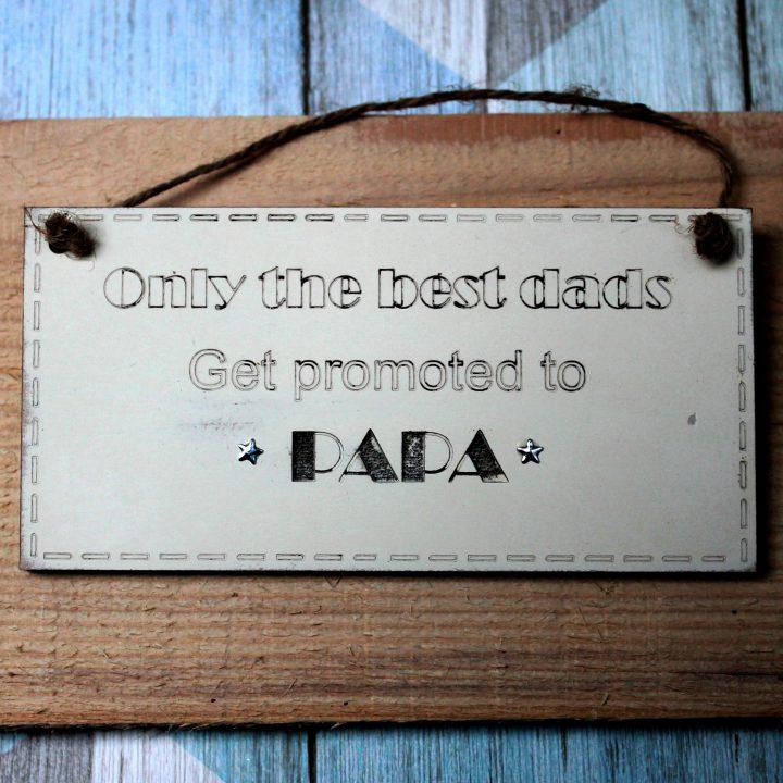 Papa gift sign