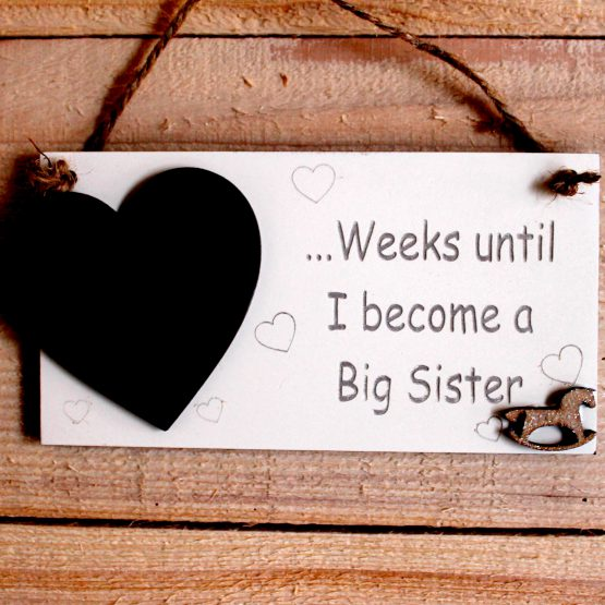 baby announcement countdown plaque