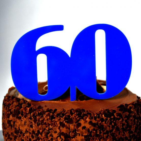 60 Cake topper