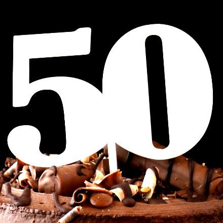 50th Cake Topper