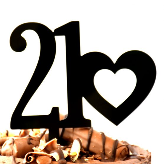 21st cake topper