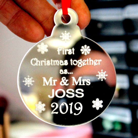 first christmas mr and mrs bauble