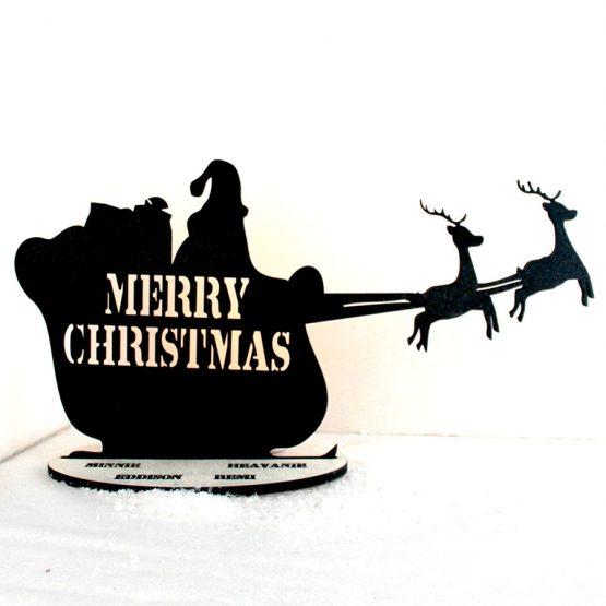 santa sleigh tealight holder