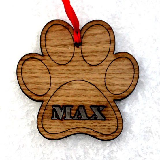 paw print bauble