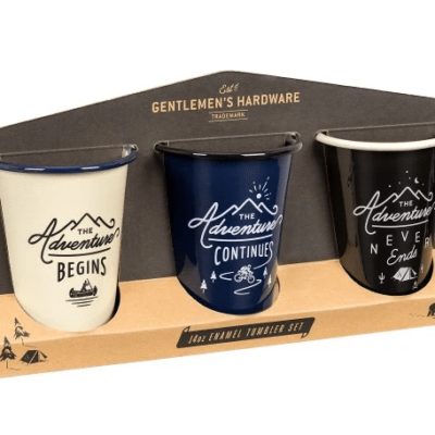Gentlemen's Hardware EMAILLE BECHER 3-ER SET «ADVENTURE»