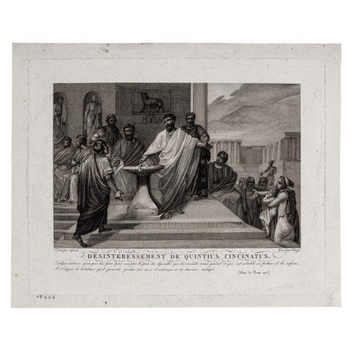 Roman art print etching