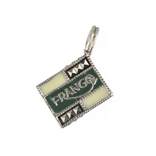 Frango mint silver charm