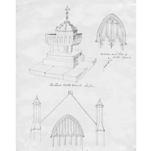 English church drawing