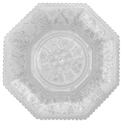 Cake plate antique glass