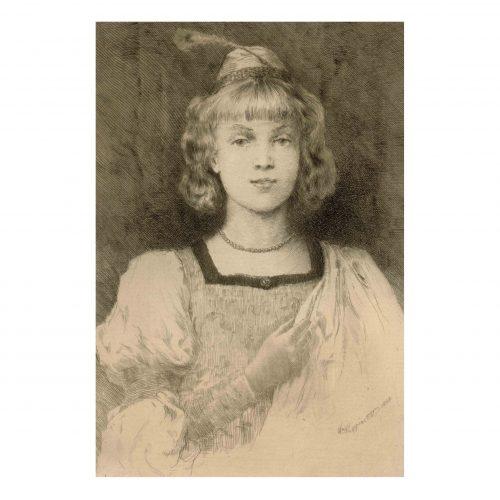 girl portrait print