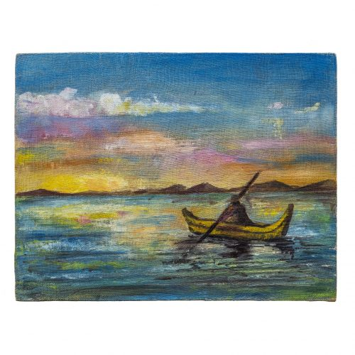 Lake Titicaca painting South America