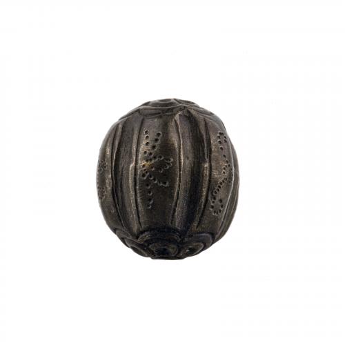 Bronze Japanese ojime necklace bead