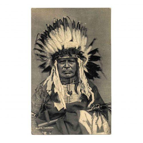 Chief Black Thunder Native Americana RPPC