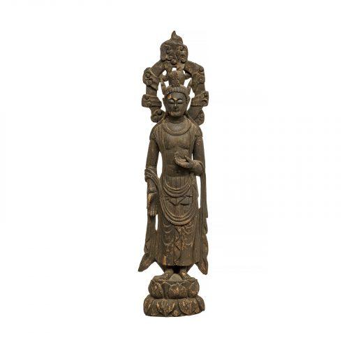 Antique bodhisattva buddha statue