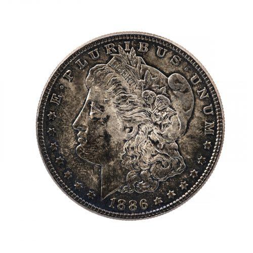 Morgan silver dollar 1868