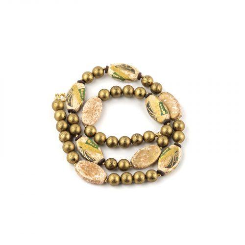 Art deco Satsuma jewelry necklace