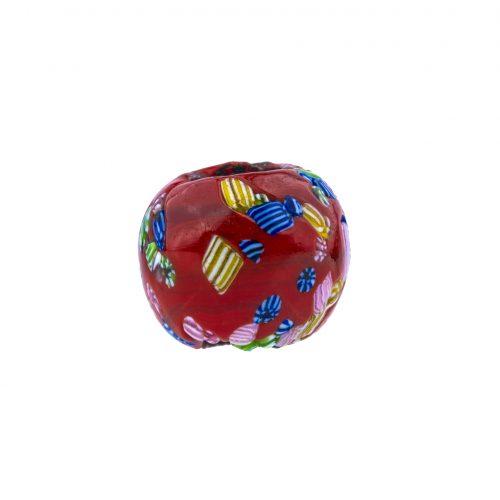 Japanese ojime millefiori bead