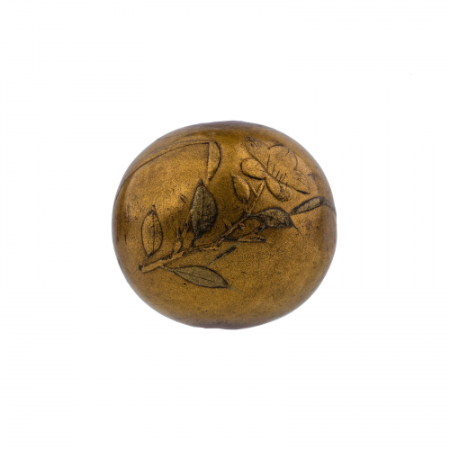 Japanese lacquered ojime necklace bead