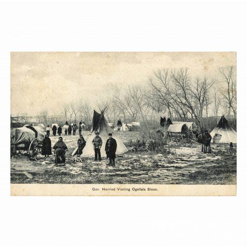 Ogalala Sioux Native Americana old postcard