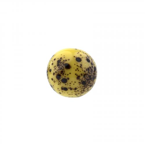 Robins egg glass ojime necklace bead