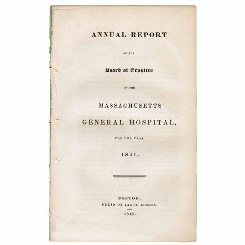 1841 Massachusetts general hospital historical report