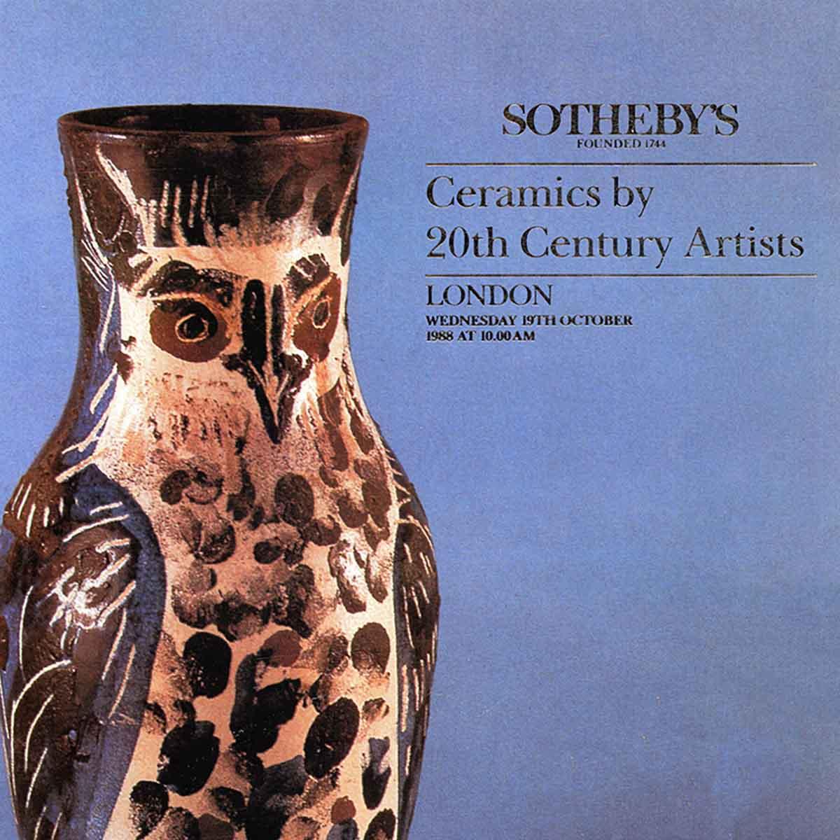 Ceramics by 20th century artists