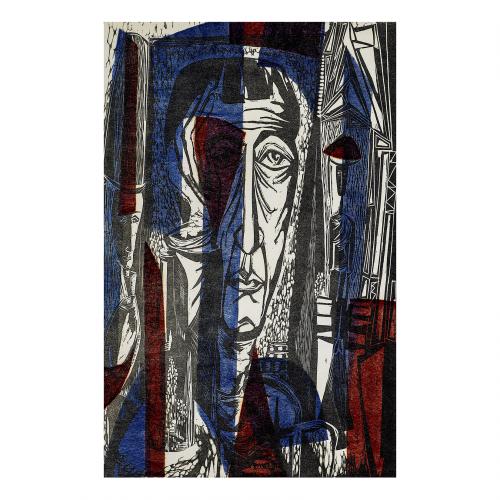 EXPRESSIONIST ART PRINT LINOCUT