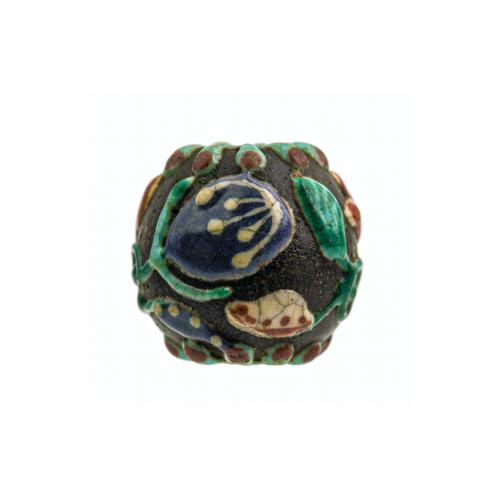Yixing pottery bead 19th century