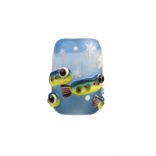 Japanese glass ojime bead