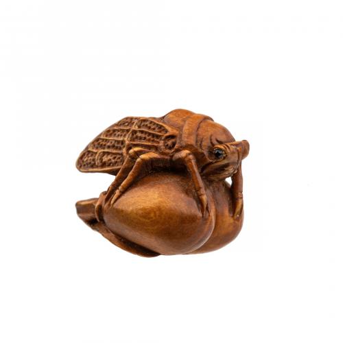 Japanese Ojime Wooden Bead