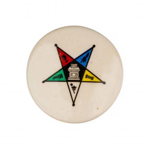 Masonic Eastern Star Antique Button