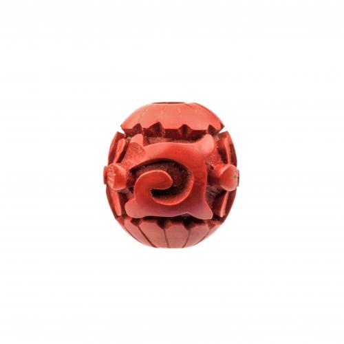 Antique Cinnabar Bead