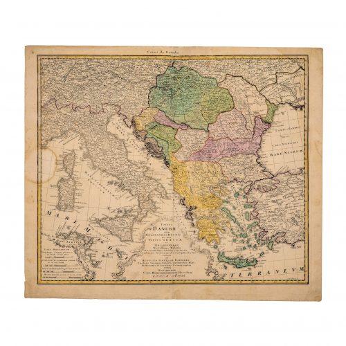 Danube River Old Map