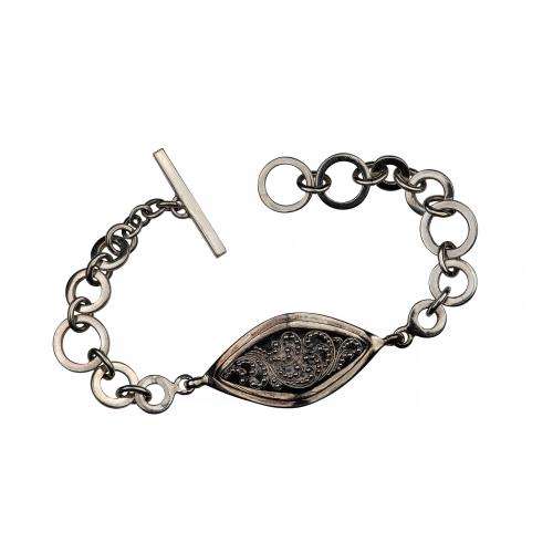 Lois Hill Sterling Silver Link Bracelet