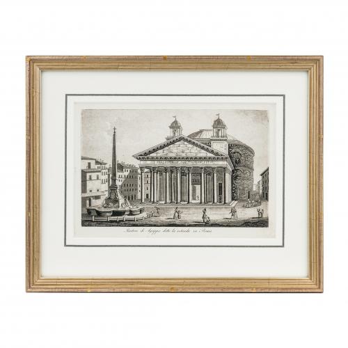 Pantheon Rome Antique Print